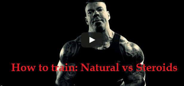 Steroid vs natural training