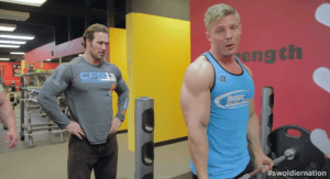 Mike O'Hearn and Steve Cook Curl Heavy Weights In The Squat Rack