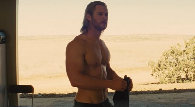 chris hemsworth thor muscle hollywood movie actor