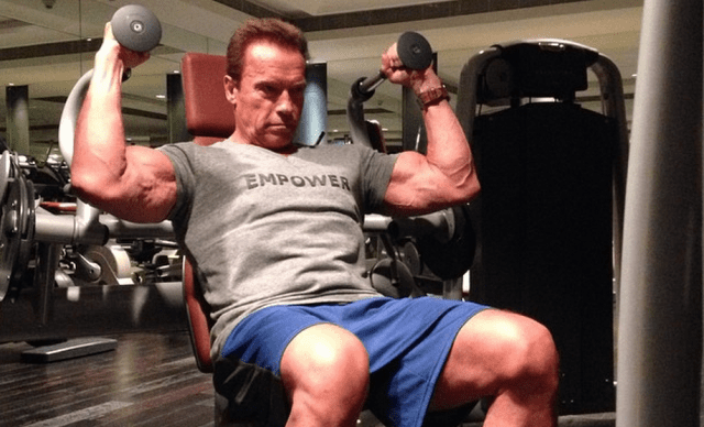 arnold old in gym