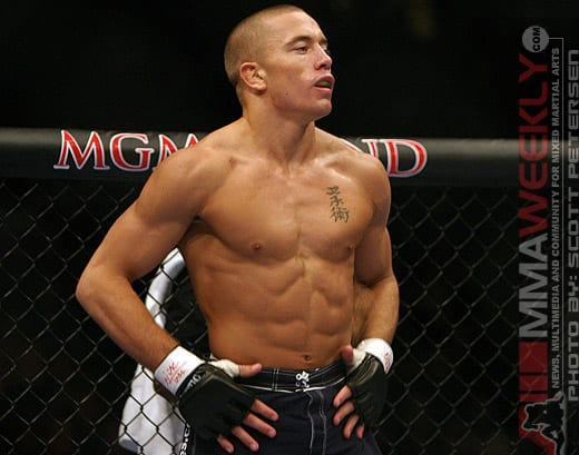 ufc mma fighter muscle george st pierre