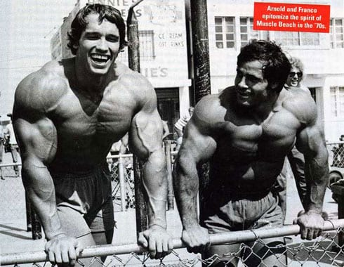 Arnold Schwarzenegger and Franco Columbu Bodybuilders