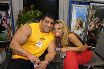 bodybuilder with girl