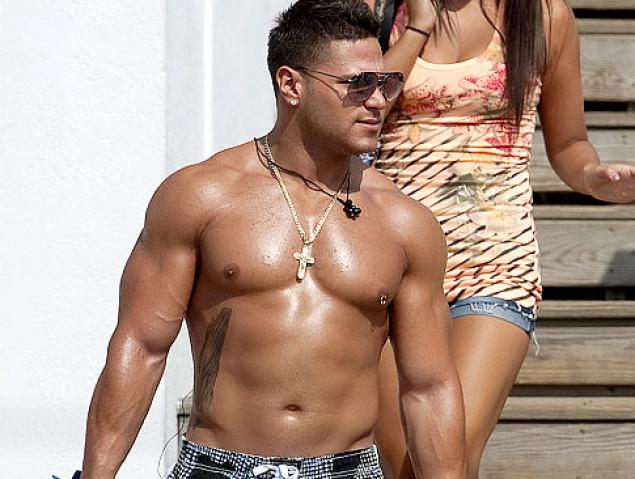 muscle guy on beach