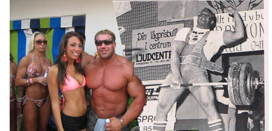 Jay Cutler with strongest man in world