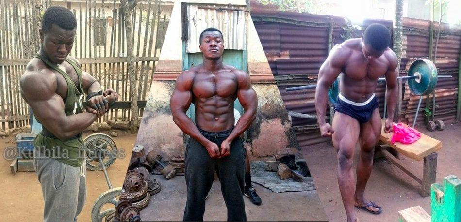 Kulbila 'fitness' Bodybuilder From Ghana Africa