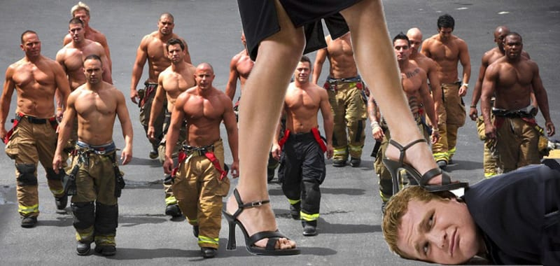 jacked firefighters in feminist campaign