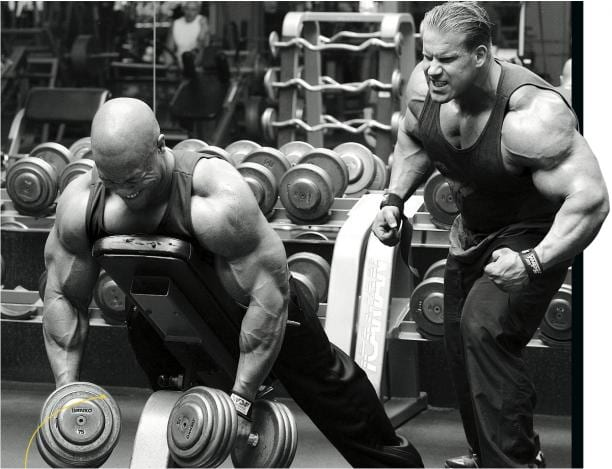 Phil Heath and Jay Cutler Bodybuilders training