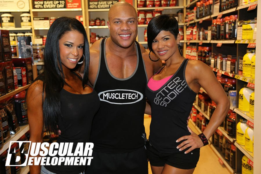 phil heath bodybuilder with girls