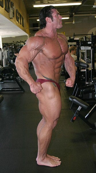 Rich Piana bodybuilder competing on stage