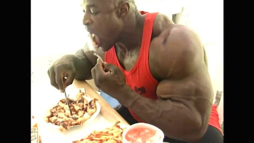ronnie coleman bodybuilder eating