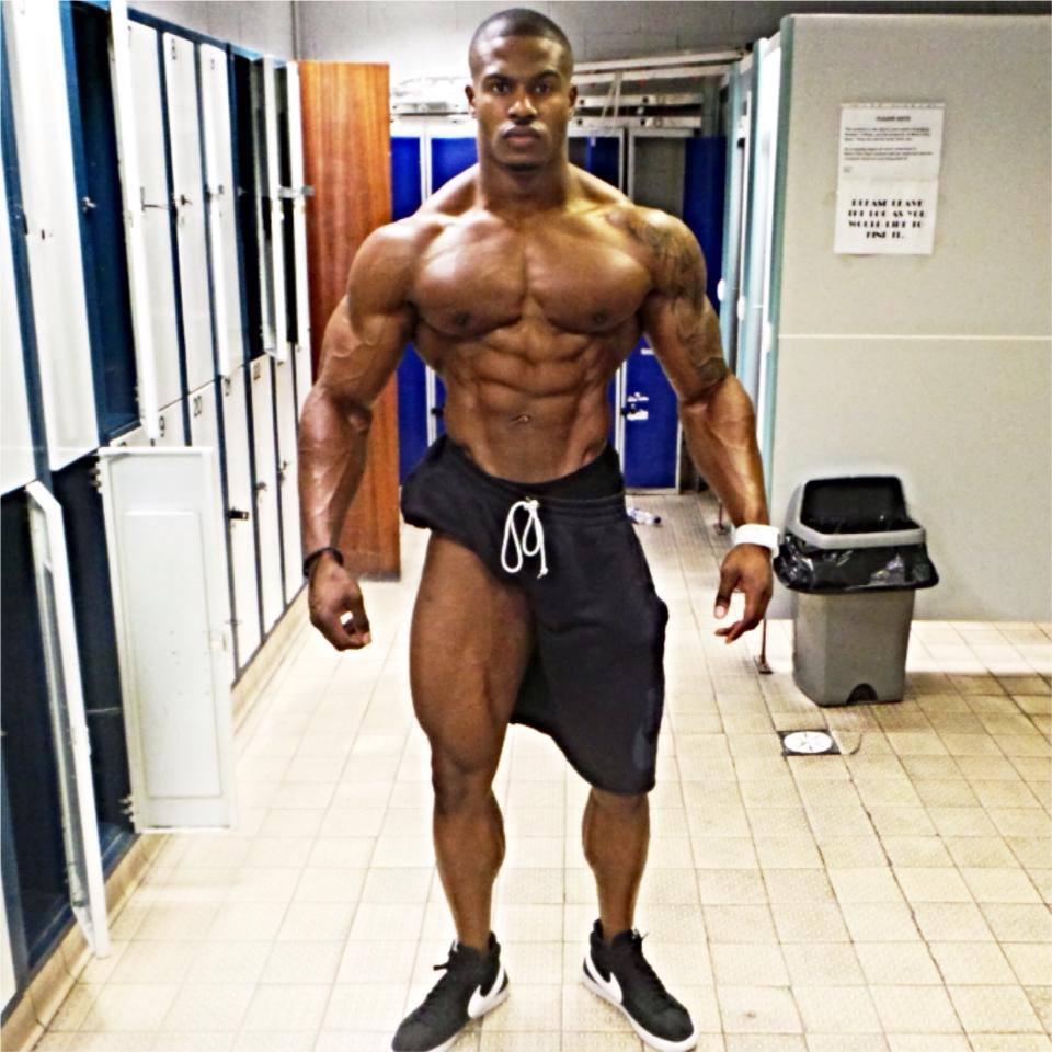 bodybuilder with legs