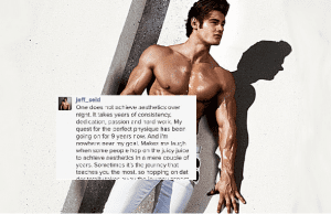 Jeff Seid Claiming Natural In His Latest Instagram Post