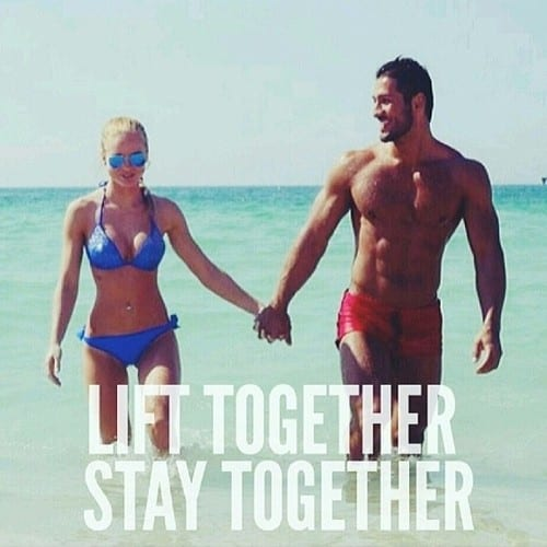 fit couple on beach
