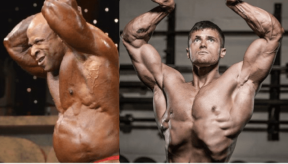 Vacuum Pose Bodybuilders Vs GH Gut Bodybuilders