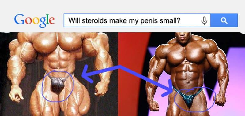 Стероиды уменьшают пенис