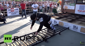 Russian Strongman Moves A Two-Story House With His Incredibly Strong Body