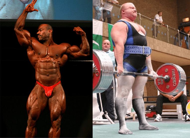 Bodybuilder bigger muscle than powerlifter
