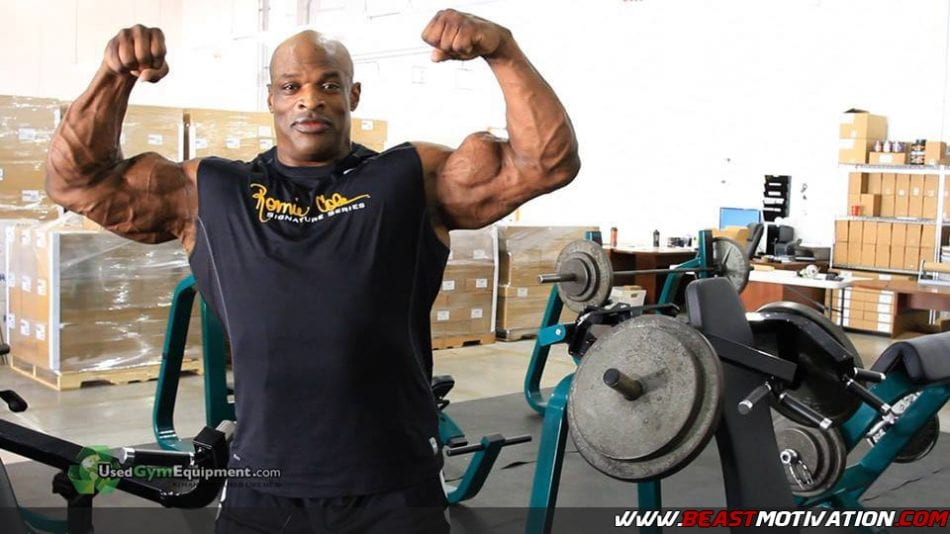 Ronnie coleman after competing days