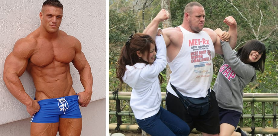 Male body builder having sex