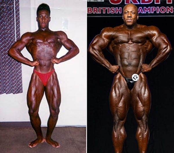 Before after picture of famous bodybuilders11
