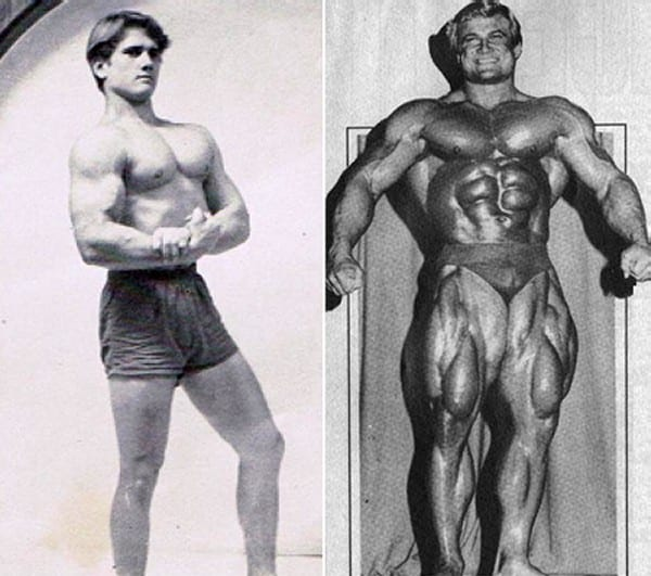 Before after picture of famous bodybuilders13