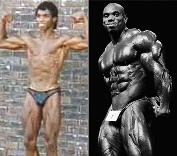 Before after picture of famous bodybuilders17
