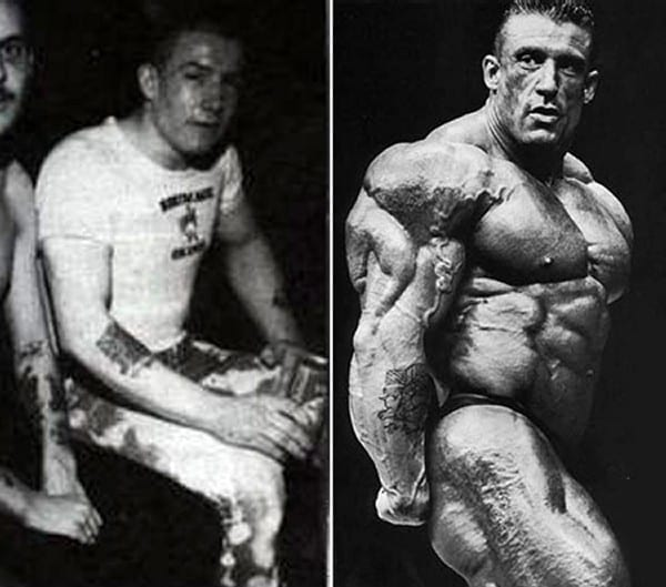 Before after picture of famous bodybuilders19