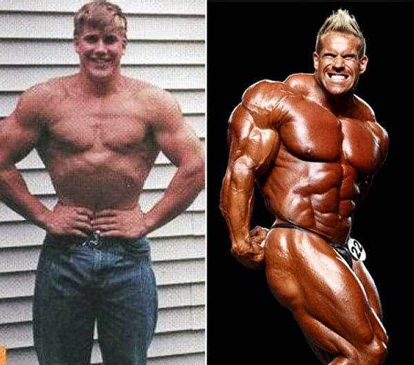 Before after picture of famous bodybuilders3