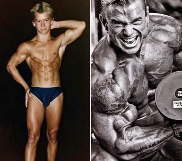 Before after picture of famous bodybuilders7