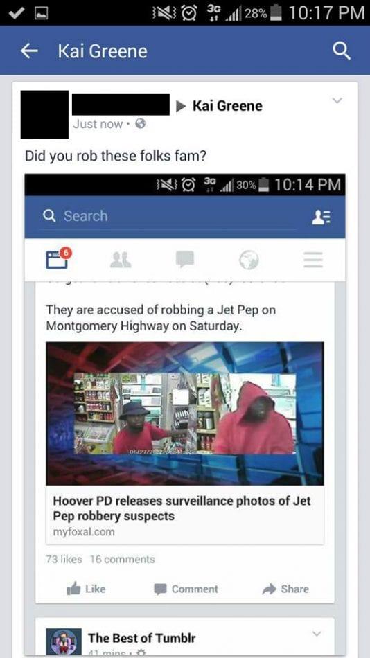 kai greene accused of robbery