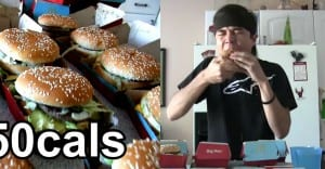 Watch a Small Guy Eat 25 Big Mac's (13,250 calories) and Break a World Record