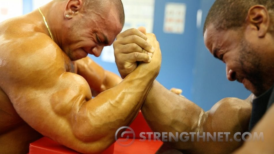 Watch the Most INTENSE Arm-Wrestling Match Between