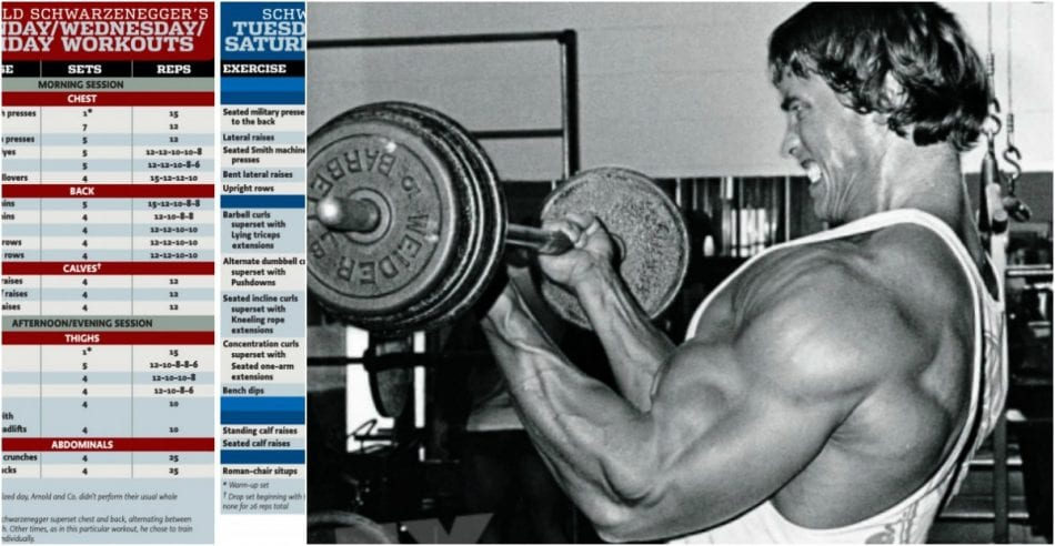 Arnold Schwarzeneggeru0027s Unbelievable Workout Schedule From 1974 | BroScience