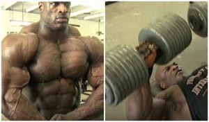 Ronnie Coleman's Insane Chest Workout Lifting 200lbs Dumbbells Like It's Nothing