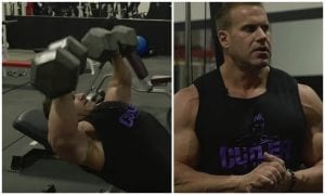 Jay Cutler Shows A Guy How He Built Up His Massive Chest For The Olympia