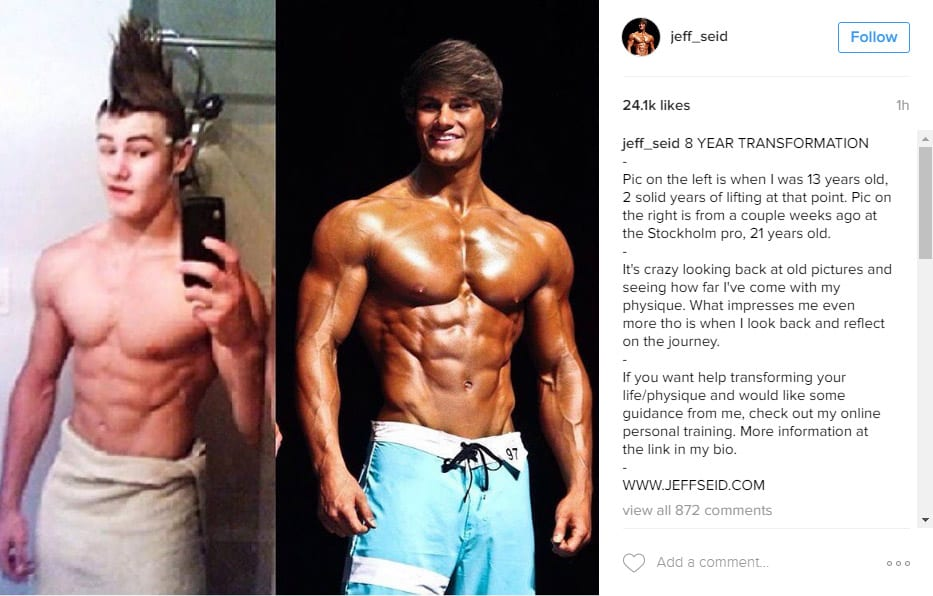 Have a look at the 8 year transformation of Jeff Seid