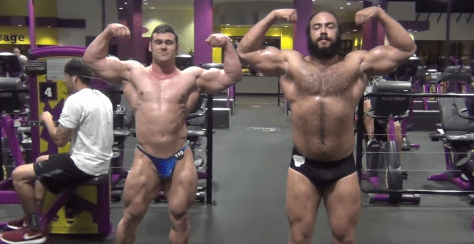 Bodybuilders Do A Bodybuilding Contest At Planet Fitness