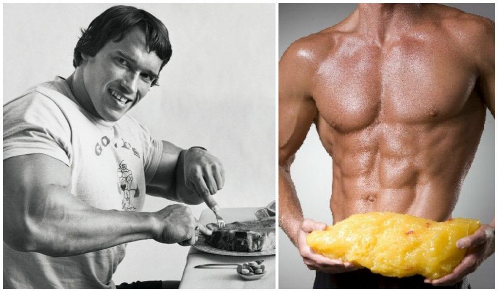 Arnold Schwarzenegger standing in a kitchen