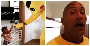 Dad Of The Year!! The Rock Dressed Up As Pikachu To Cheer His Upset Daughter Up!! What A Legend!!!