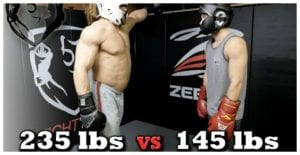 235lb Bodybuilder Vs. 145lb MMA Fighter… Who do you think wins??