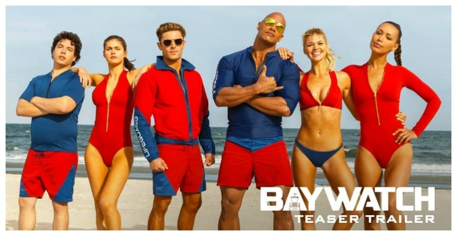 The Rock Looking Cool AF In The New Baywatch Trailer