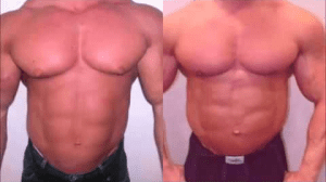Before After Results From Using Supplements That Destroy Man Boobs & Chest Fat