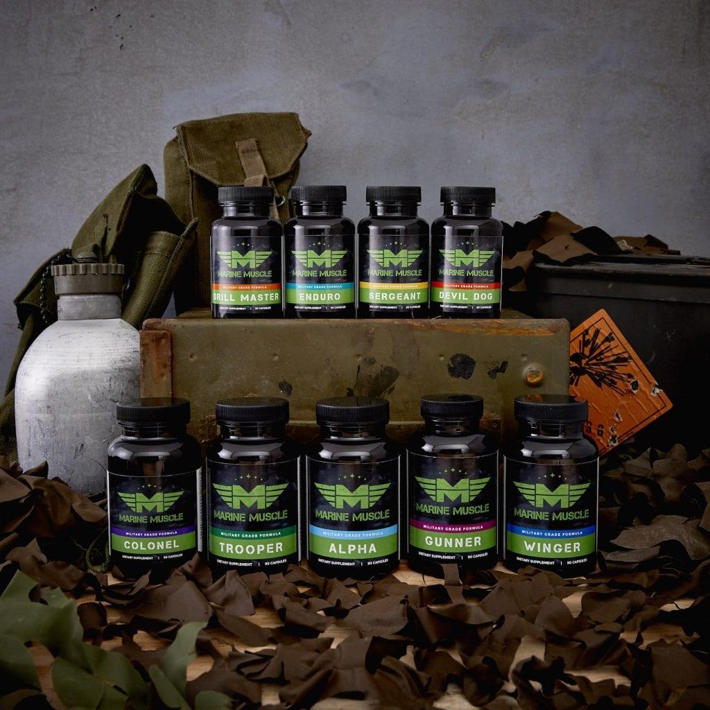 marine muscle product range
