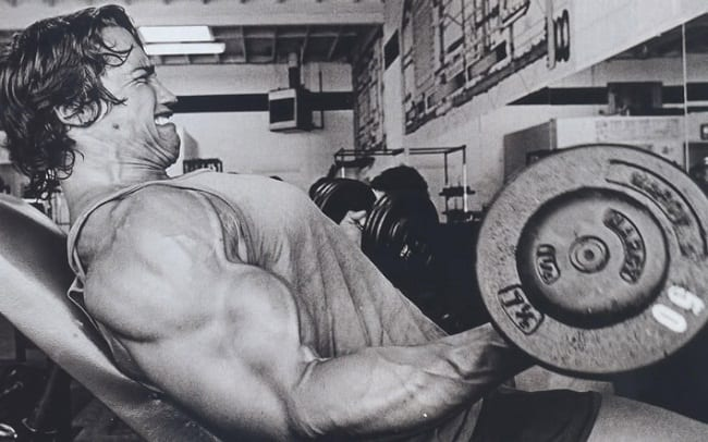arnold schwarzenegger diet and workout program