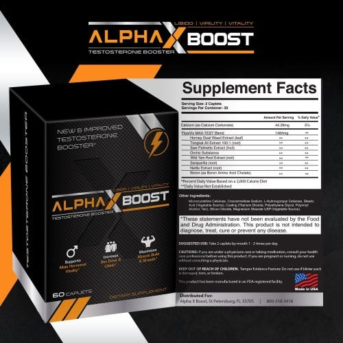 alpha x boost ingredients label