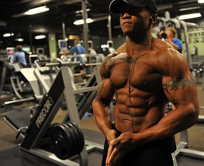 bodybuilder chest mass