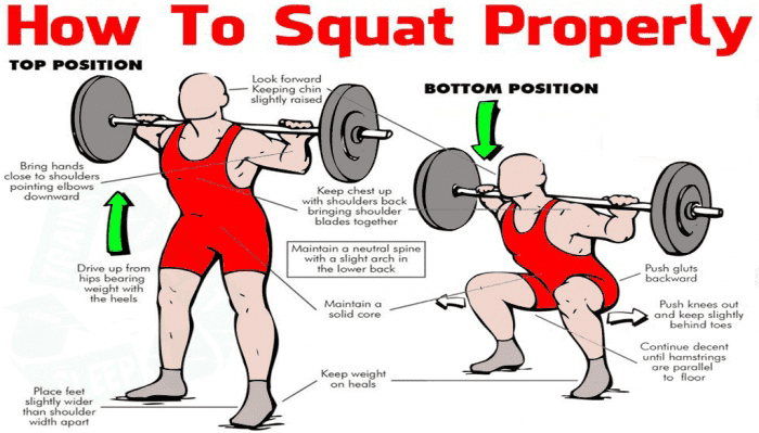 how to squat to build muscle