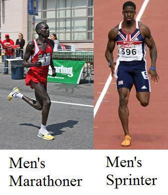 sprinting vs long distance running which is better for muscle