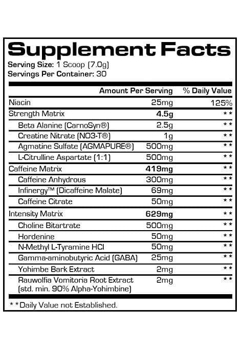 Mr Hyde Pre Workout Ingredients